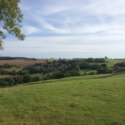 Guided walking in Cotswolds - a peaceful rural scene