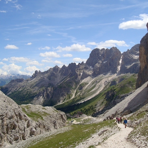 Guided walking -Typical Dolomites path