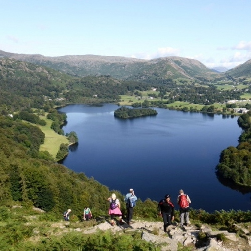 Guided walking in the Lake District - Looking out over Grasmere