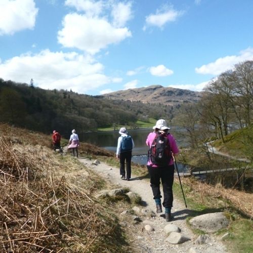 Guided walking in Lake District - walking by Rydal Water