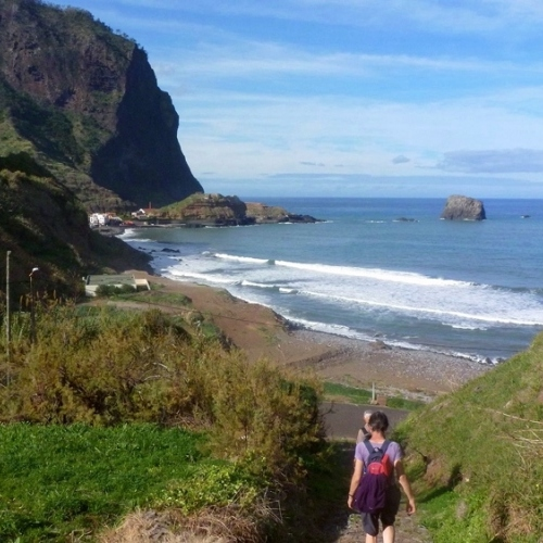 Guided walking in Madeira - down to Paul de Mar