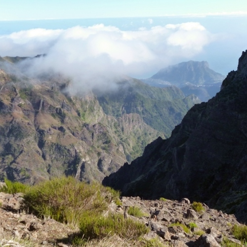 Guided walking in Madeira - looking out to Pico Ruivo