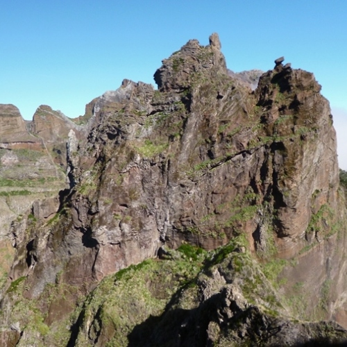 Guided walking in Madeira - craggy peaks