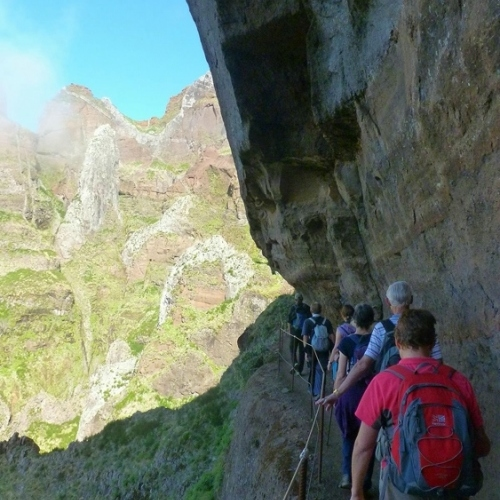 Guided walking in Madeira - on the way to Pico Ruivo