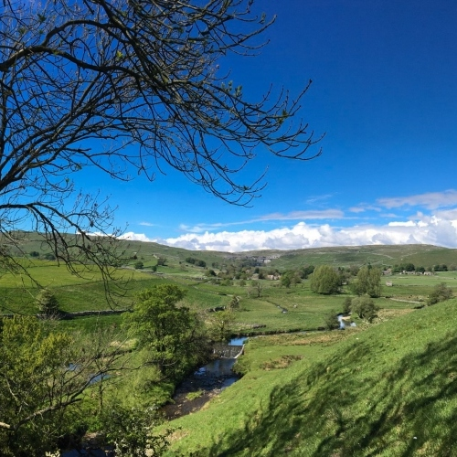 Yorkshire Dales and Mlhamdale- blue skies on the horizon