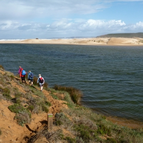 Guided walking in Portugal's Algarve - walking along an estuary