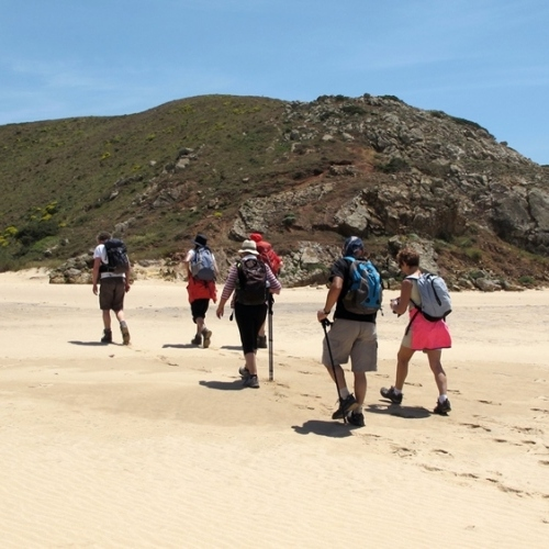 Guided walking in Portugals Algarve - on the cliff top