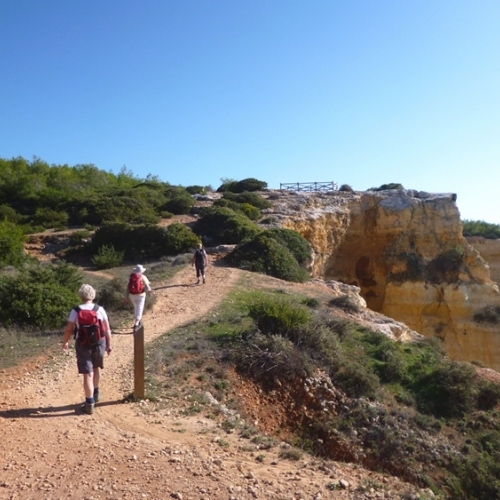 Guided walking in Portugal's Algarve - walking a sandy trail