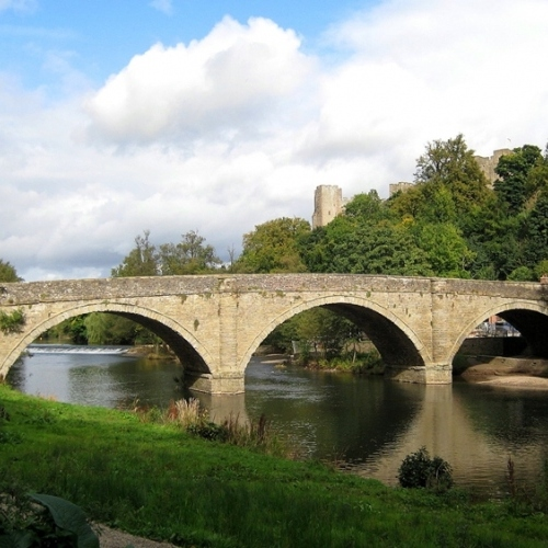 Guided walking in Shropshire Hills Dinham bridge in Ludlow