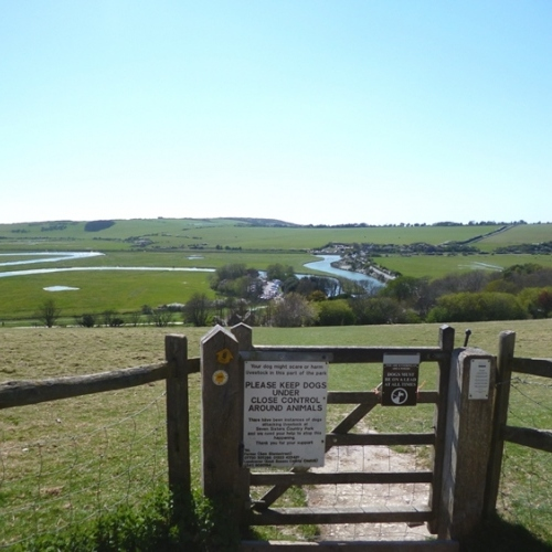 South Downs - looking down to Cuckmere
