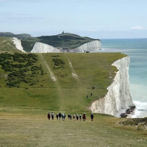 South Downs - approaching the Seven Sisters on the coast path