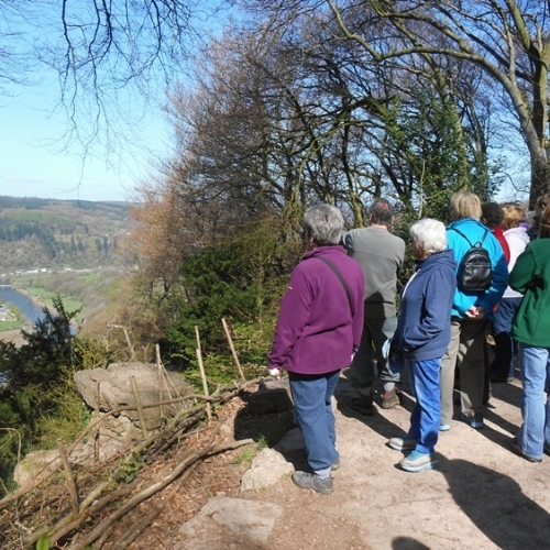 Looking over the Wye Valley from Devils Pulpit